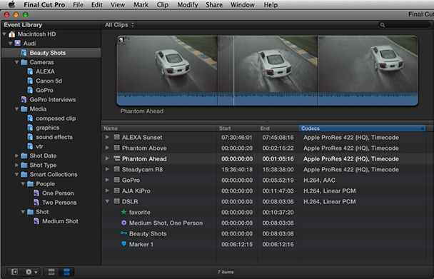 FCP X Event Library