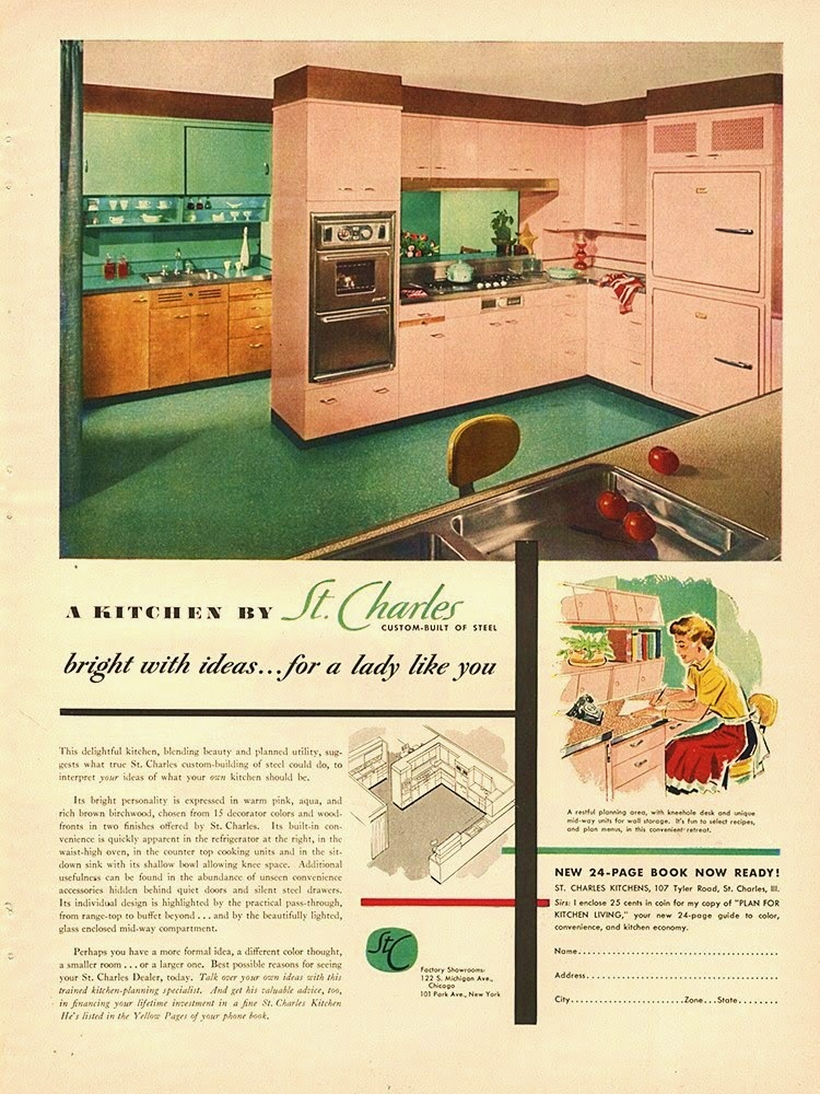 Farm Girl Pink....: ~ Vintage Pink kitchens.... cabinets....