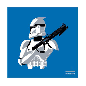 San Diego Comic-Con 2015 Exclusive Star Wars Stormtrooper Screen Print Set by Tom Whalen - Clone Trooper