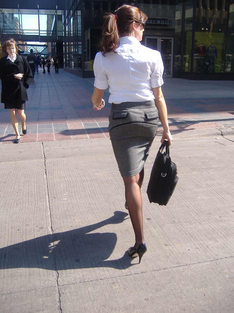 pantyhose on the legs street Sexy