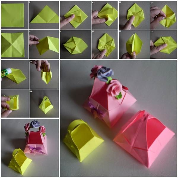 Origami Paper Basket Kids Origami Instructions Easy