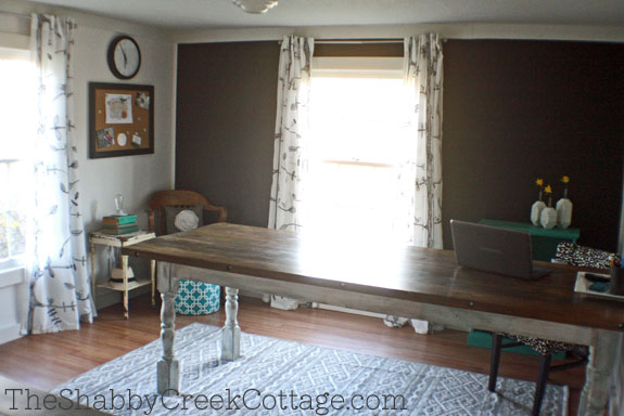 interior designed, office space, home office, office at home, farmhouse style decor, industrial decorating