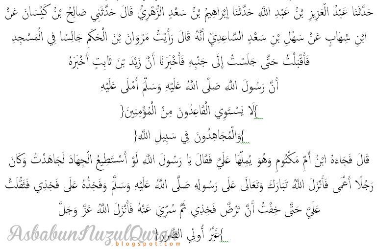 Asbabunnuzul Quran Surat an Nisaa' ayat 97