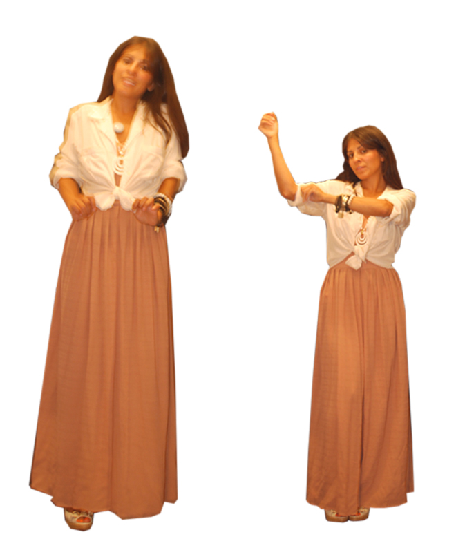 (A Part of the Rest custom jumpsuit, vintage silk top, vintage cutoff ...