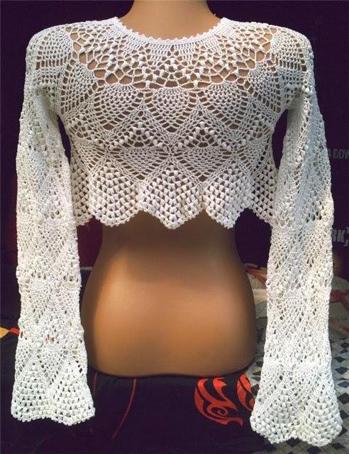 Excepcional Maravilhas do Crochê: Roupas com motivos de crochê DU58