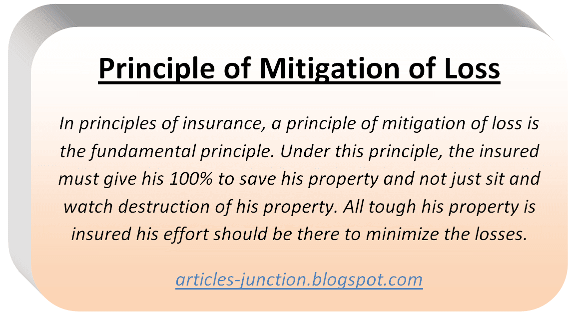 Principle of Mitigation