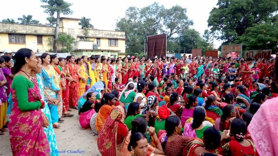 Deuda dance in the day of Gaura festival, Farwest Nepal