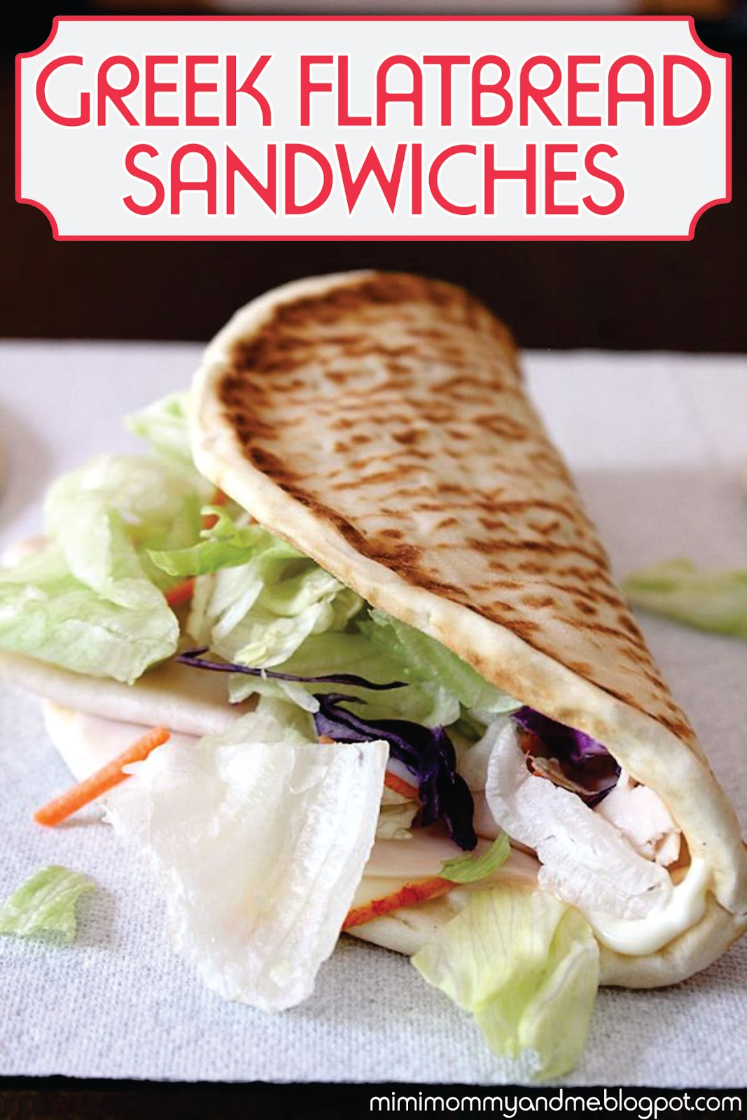 Greek Flatbread Sandwiches