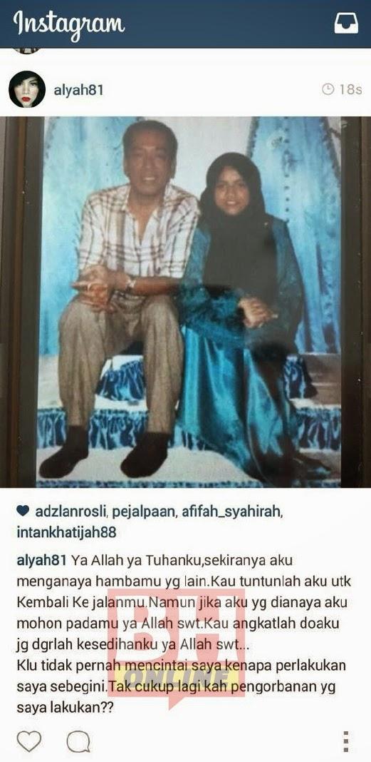 Alyah Cetus Persoalan Gambar Suami dengan Perempuan Lain