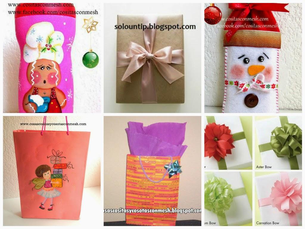 Envolturas navide as con etiquetas manualidades for Envolturas para regalos