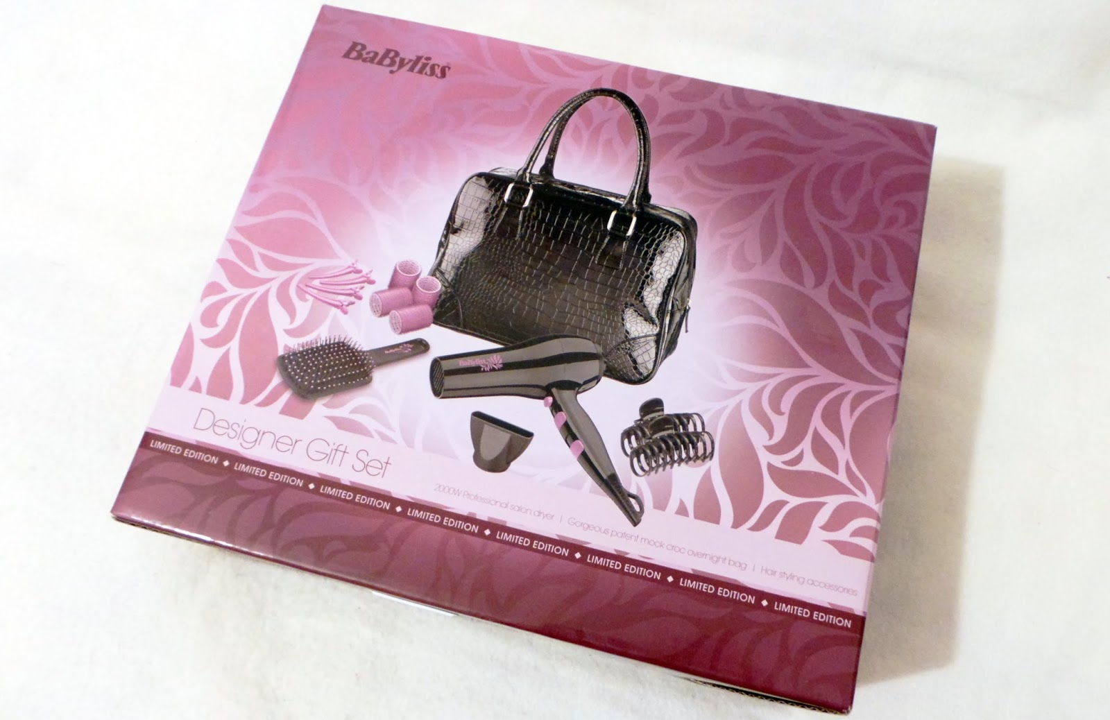 birthday haul blog post - babyliss designer gift set hairdryer and handbag