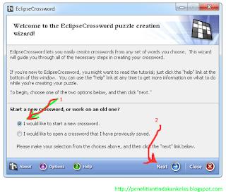 cara membuat TTS dengan EclipseCrossword 1