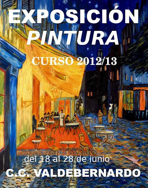 Expo pintura colectiva alumnos Pintura tarde Valdebernardo 18-28 junio