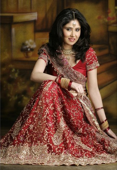 indian bridal makeup videos. Indian Bridal Dresses 2011