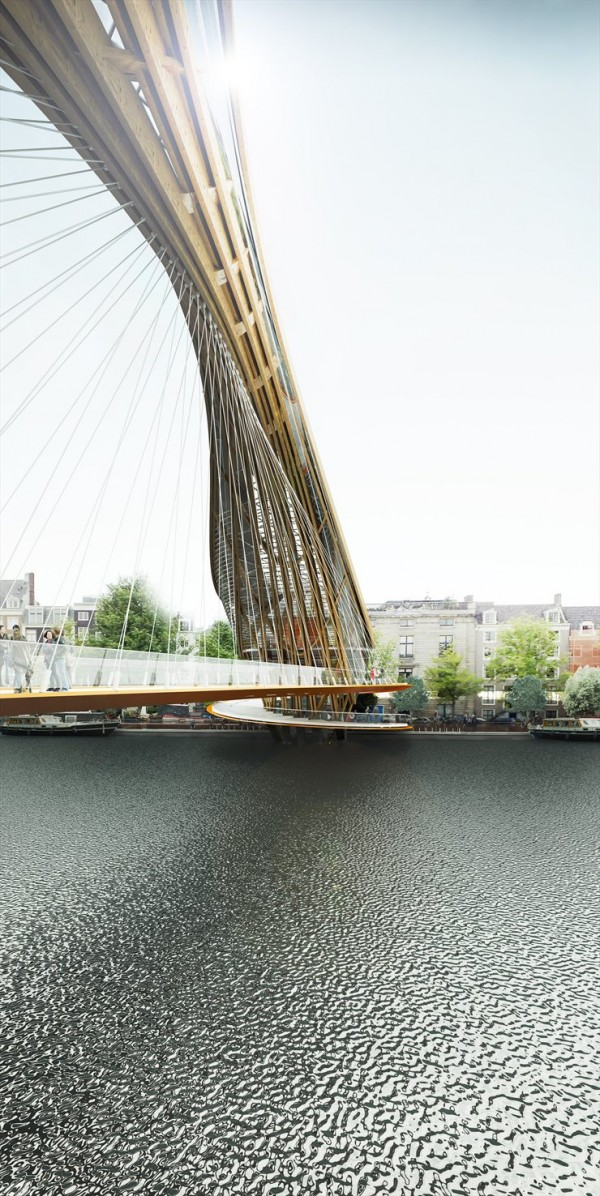 Ville hybride un pont habit pour amsterdam selon for Design bridge amsterdam