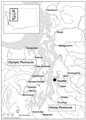 Trap locations within Puget Sound (Mike Hayes, USGS)