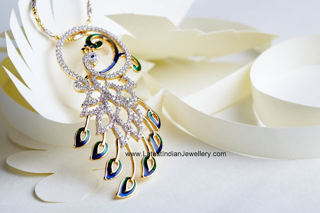 Peacock Diamond Pendant