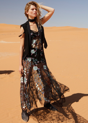 Free People vestido largo