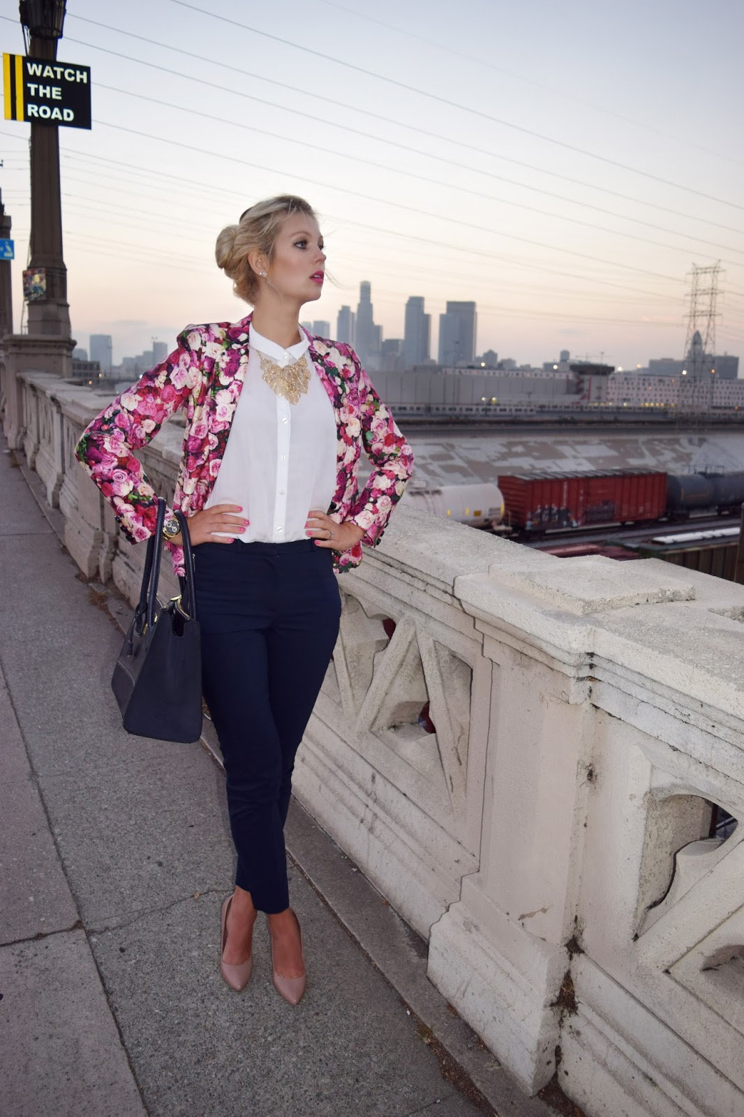 Kate Spade Rose Blazer, Suite pants, Blouse, Los Angeles