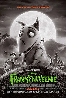 "Enter to win a Blu-Ray and DVD of ""Frankenweenie."""