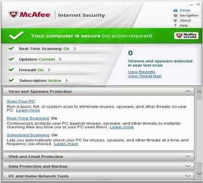 McAfee Internet Security 2014 License Key