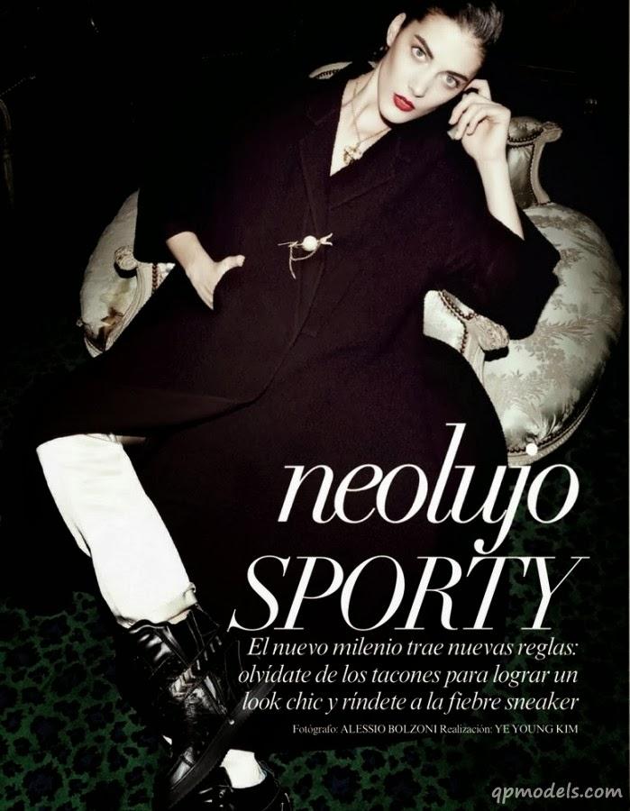 Magazine Photoshoot : Katryn Kruger Photoshoot For Vogue Magazine Mexico January 2014 Issue