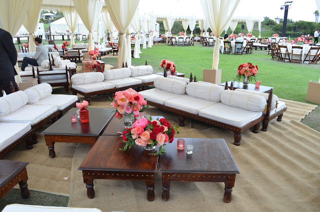 Entertaining from an ethnic indian kitchen indian wedding for Best seating arrangement for small living room