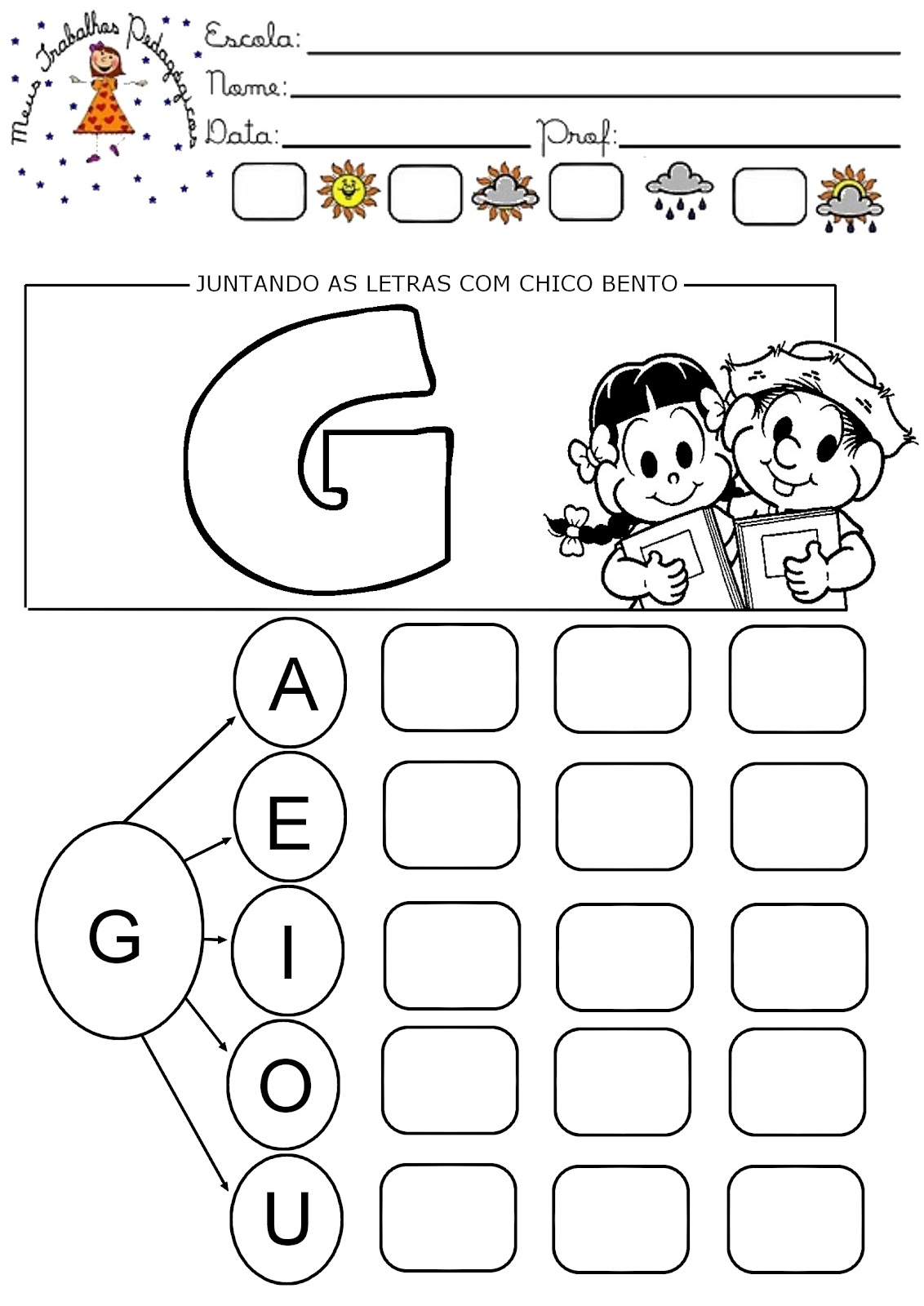 Conhecido Pedagogia Século XXI: Junção das Letras com Chico Bento SS42