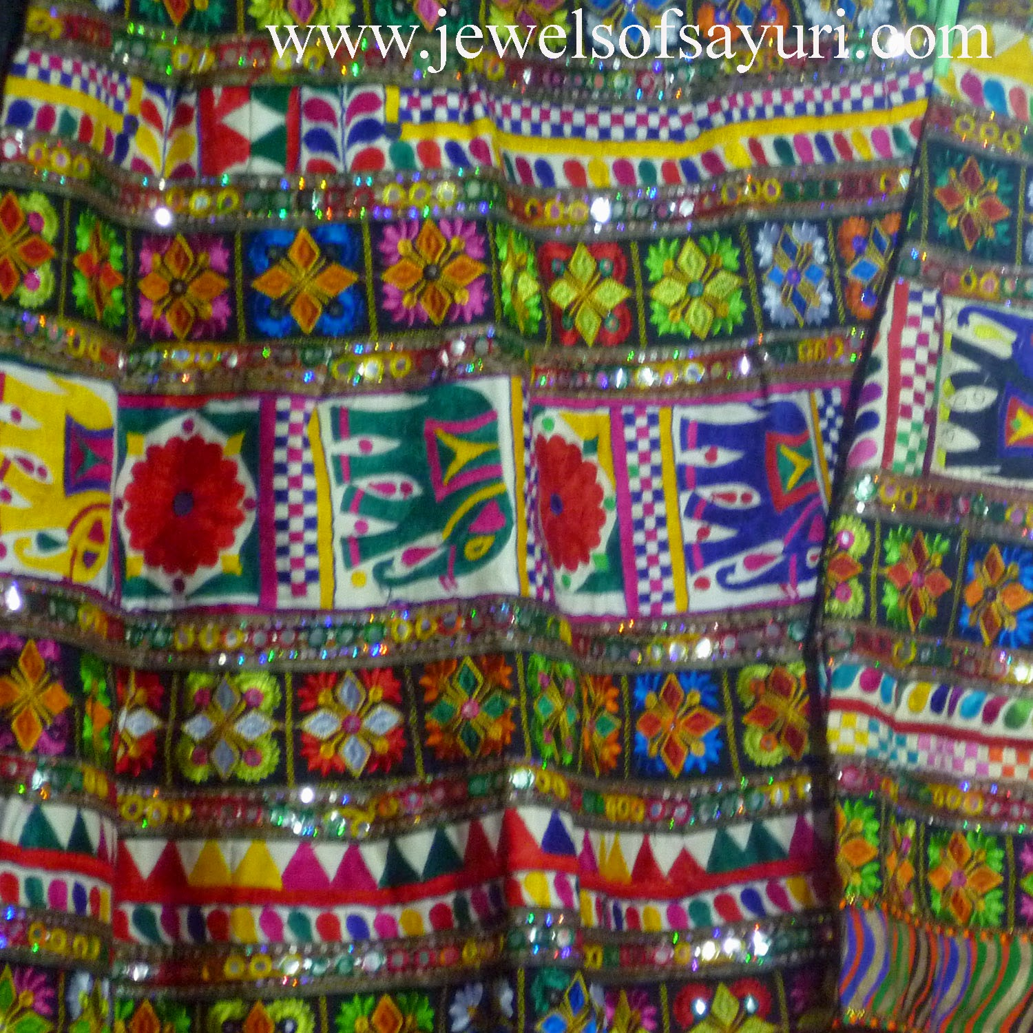 Embroidered multicolor skirts