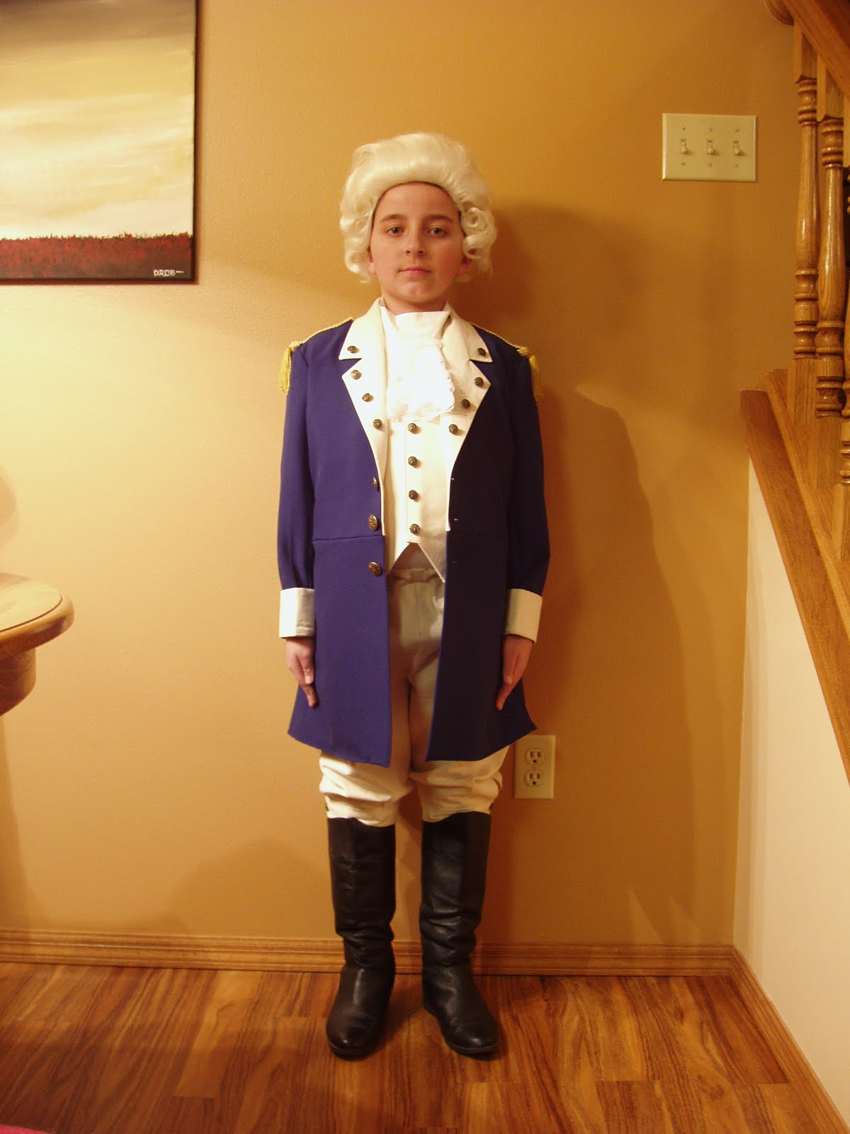 This is a quot george washington quot costume i made for a wax museum project