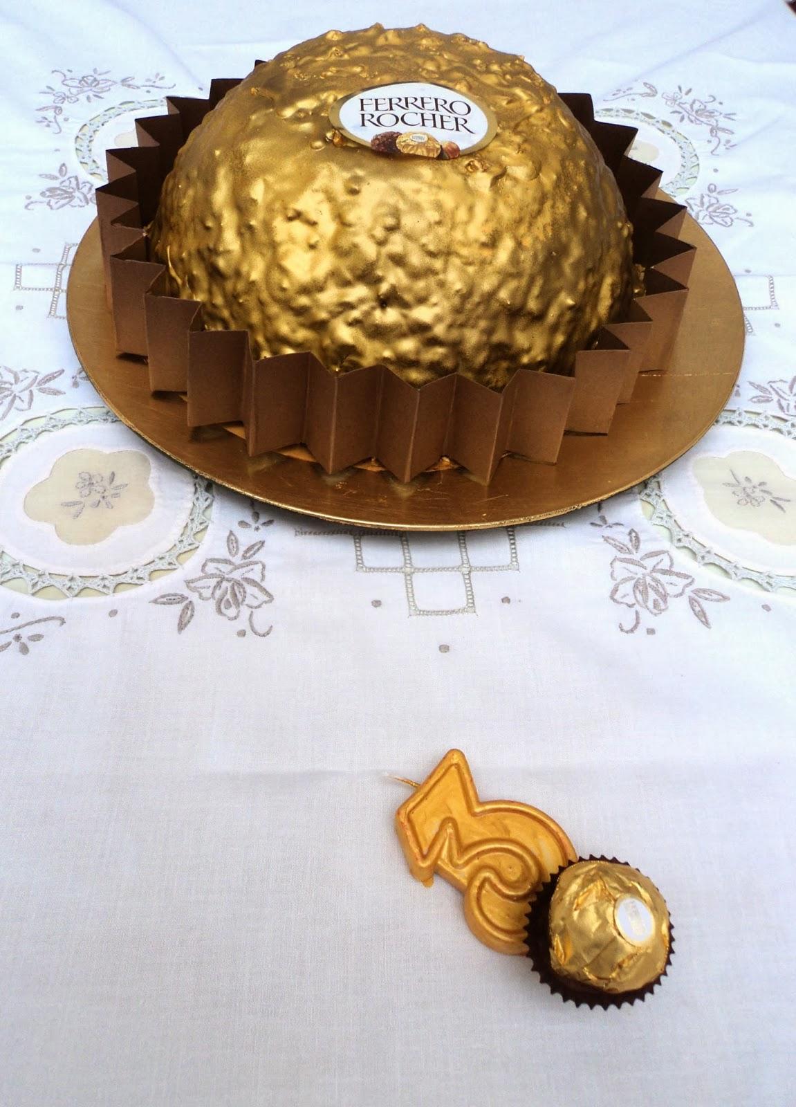 Tarta de cumpleaños ferrero rocher