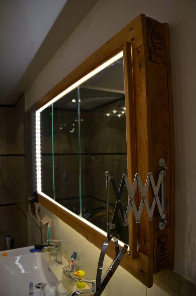 Mueble para el lavamanos y espejo for Mueble con espejo