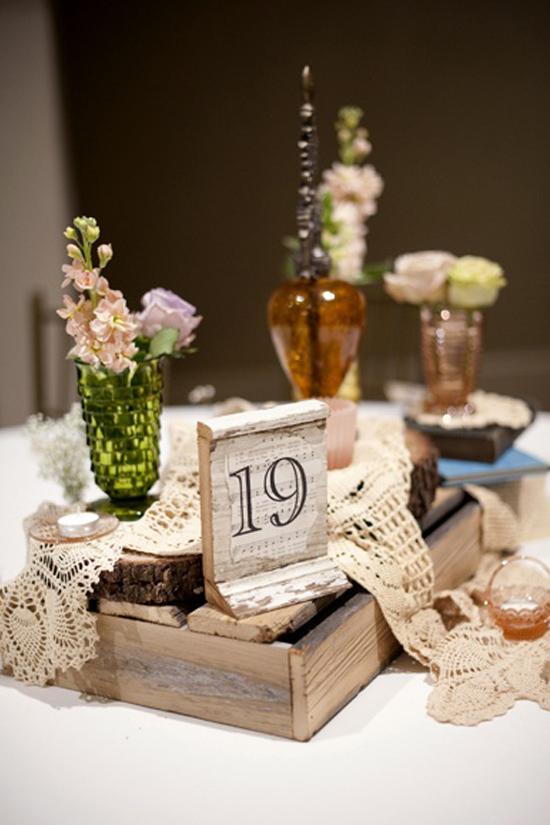 Las cajas de madera son la nueva sensaci n para bodas - Decoracion con cajas ...