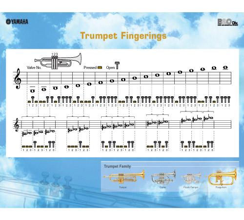 MUSIC LESSONS Trumpet Lessons – Trumpet Fingering Chart