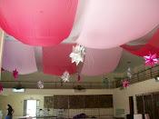 Decoração com malhas no teto