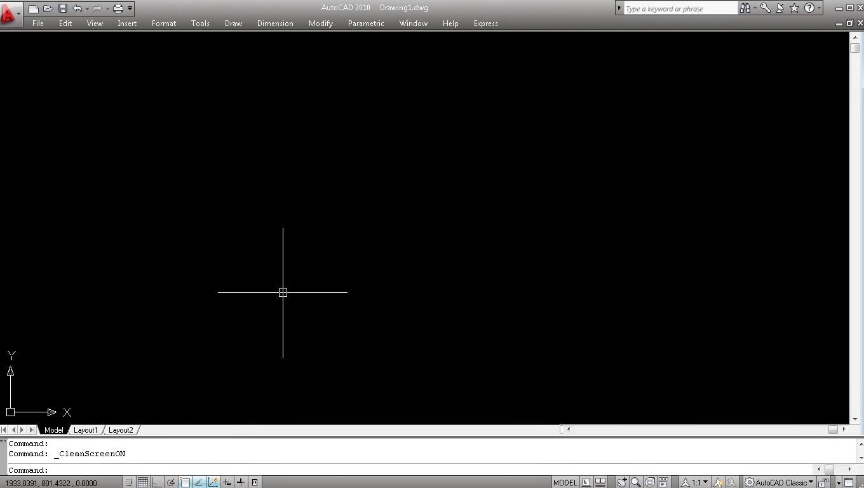 Cara Merubah Tampilan AutoCAD Menjadi Full screen.