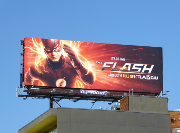 The Flash season 2 billboard