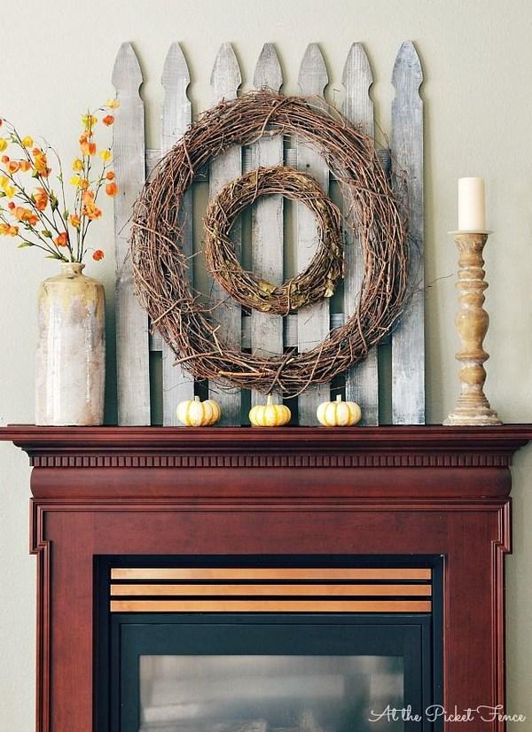 decoracion chimenea otoño