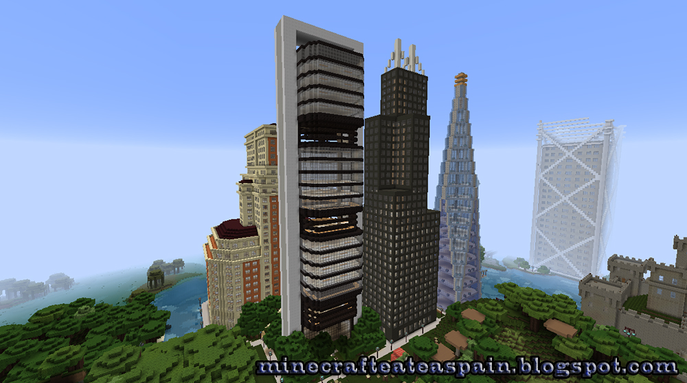 Minecrafteate r plica minecraft de la torre caja madrid - Caja de arquitectos madrid ...