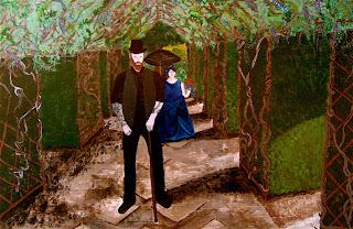Tasma House Wisteria Walk Painting by Carla Maxwell