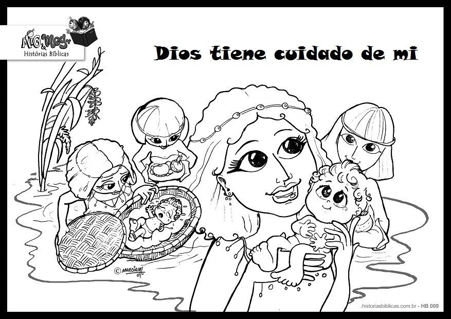 Bonito Cuentos Bíblicos Para Colorear Páginas De Preescolares ...