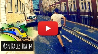 Watch how this Man races against the Train to the Next Stop as he sprints past the Circle Line from Mansion House to the Cannon Street via geniushowto.blogspot.com Extreme sports videos