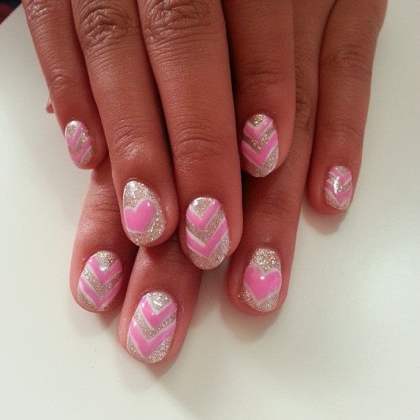 This is her LED polish manicure in 'heavenly silver' with 'pink candy' and 'meringue white'. I did 3 coats of pink to make the design 3D Pedicure Gel-Nails-Polish--LED-Nails-Acrylic-Nails-Nail-Art