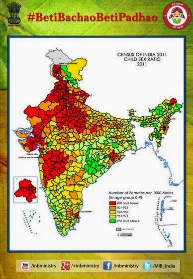 state wise child sex ratio in india