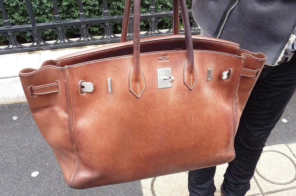 Birkin Hermès cuir gras vintage
