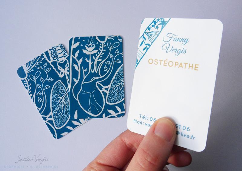 Bien-aimé Carte de visite 2015 I Ostéopathe: Fanny Vergès | Justine Vergès I  AL68