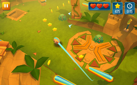 Screenshot of video game Momonga Pinball Adventures