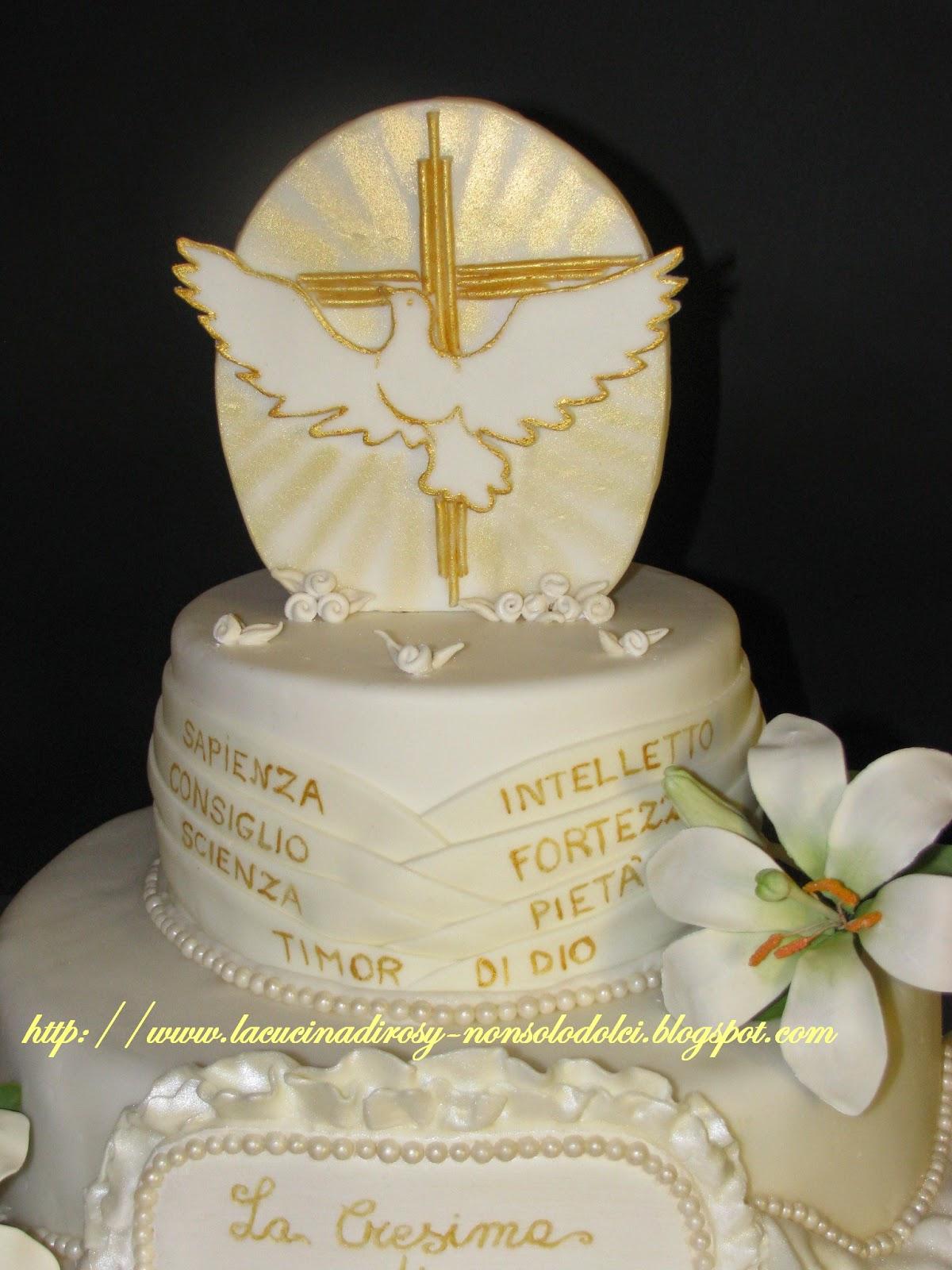 Le torte decorate di rosy torta cresima for Decorazioni torte per cresima