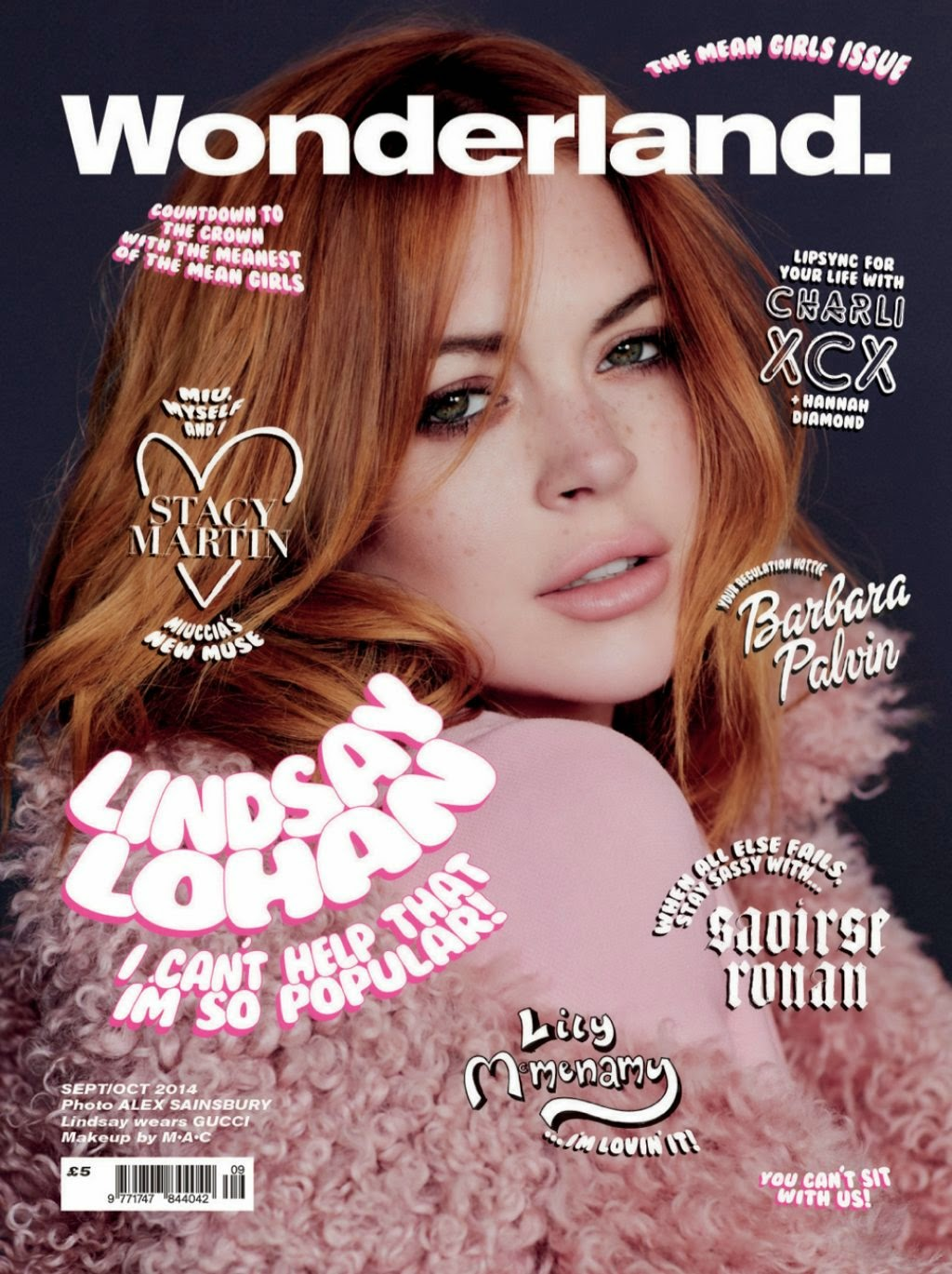 Lindsay Lohan – Wonderland Magazine September/October 2014 Issue