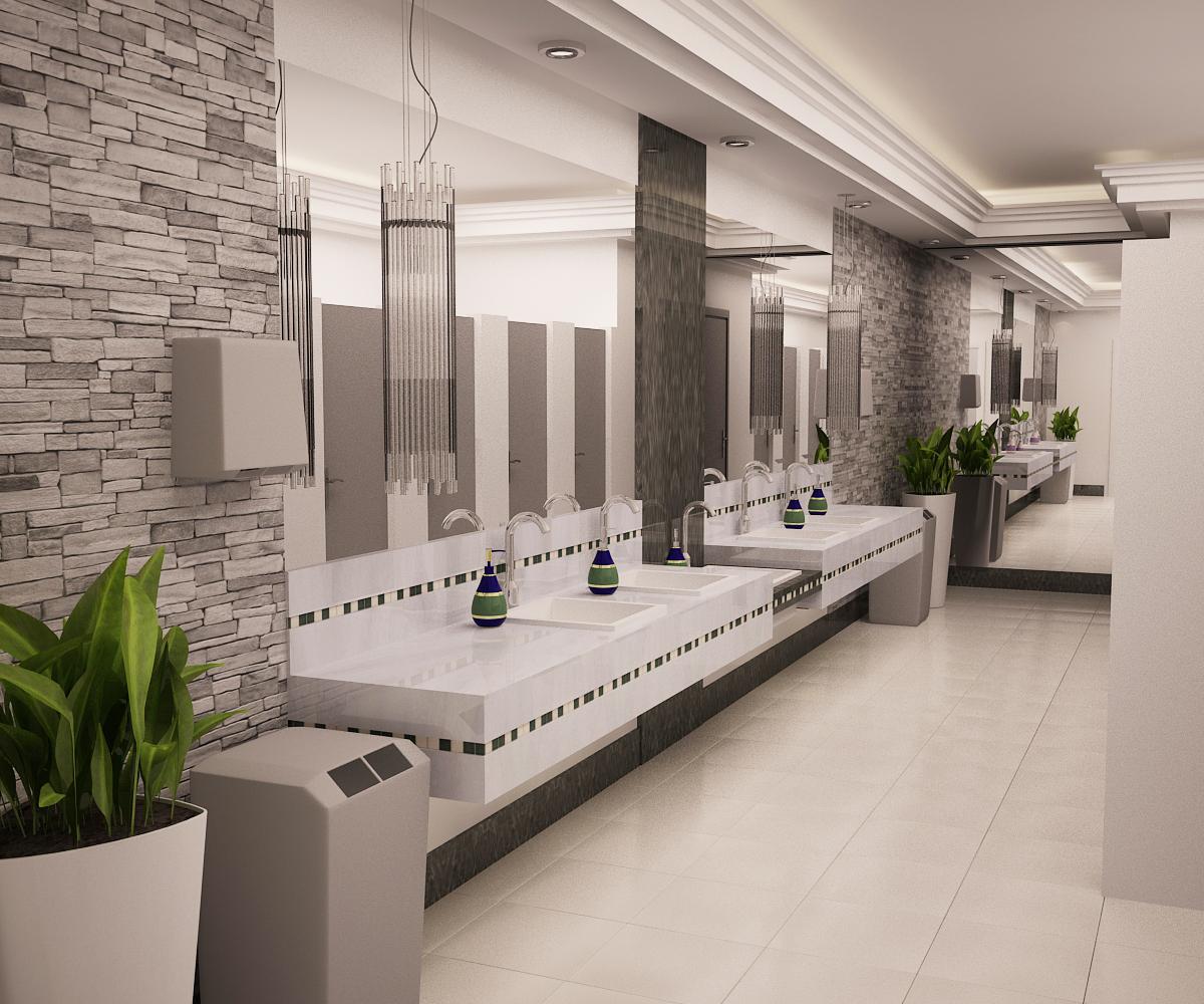 Vänya Lopes Designer de Interiores.: Banheiro publico. #4E5B20 1200 1000